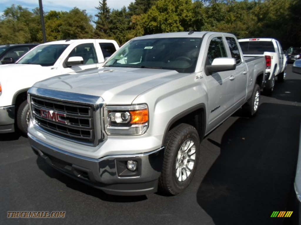2014 gmc sierra 1500 sle double cab 4x4 in quicksilver metallic 131792 truck n 39 sale. Black Bedroom Furniture Sets. Home Design Ideas