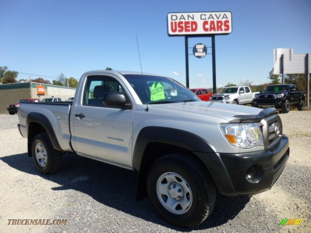 2010 toyota tacoma regular cab 4x4 in silver streak mica 727436 truck n 39 sale. Black Bedroom Furniture Sets. Home Design Ideas
