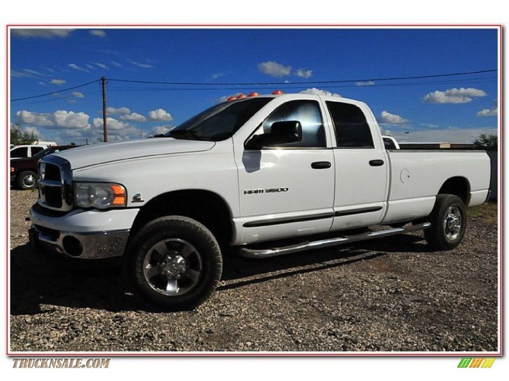2005 dodge ram 3500 slt quad cab 4x4 in bright white for Steve white motors inc