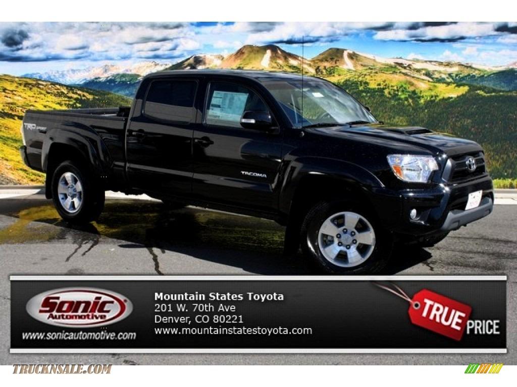 2014 toyota tacoma v6 trd sport double cab 4x4 in black 062628 truck n 39 sale. Black Bedroom Furniture Sets. Home Design Ideas