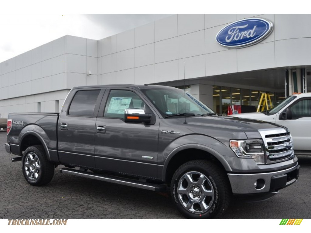 2013 ford f150 lariat supercrew 4x4 in sterling gray metallic f90353 truck n 39 sale. Black Bedroom Furniture Sets. Home Design Ideas