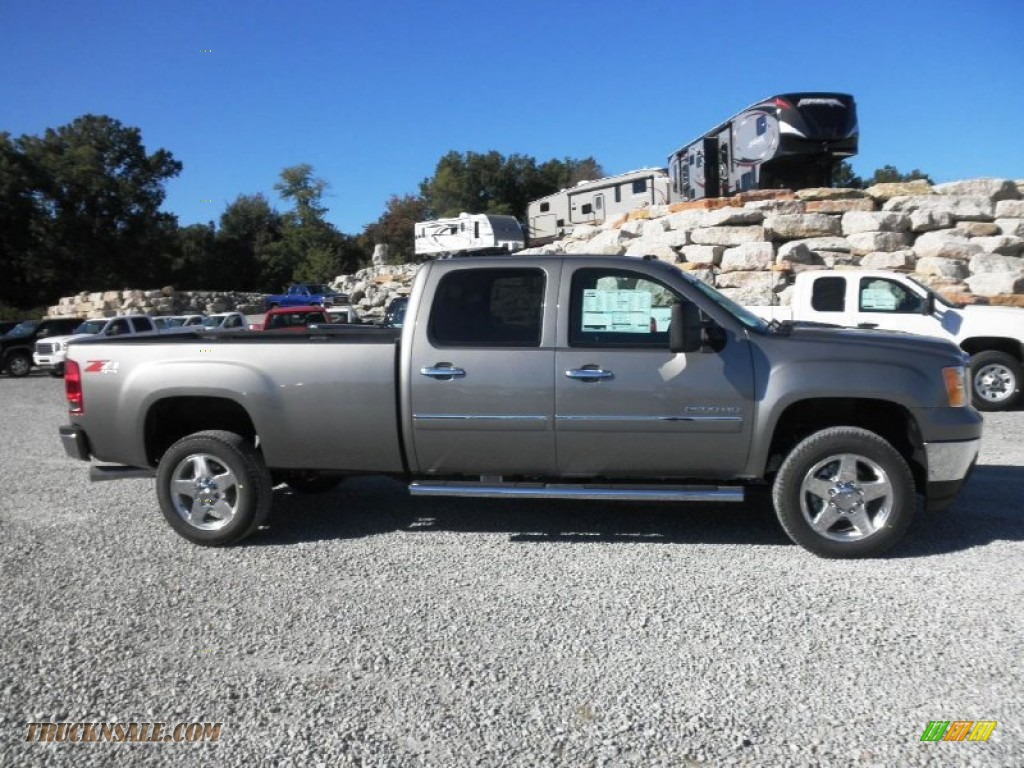 2014 gmc sierra 2500hd sle crew cab 4x4 in steel gray metallic 153022 truck n 39 sale. Black Bedroom Furniture Sets. Home Design Ideas
