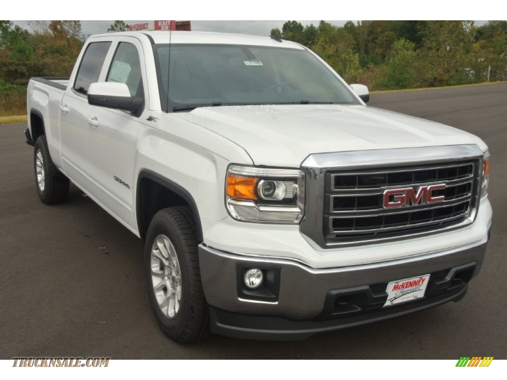 2014 gmc sierra 1500 sle crew cab in summit white 244195 truck n 39 sale. Black Bedroom Furniture Sets. Home Design Ideas