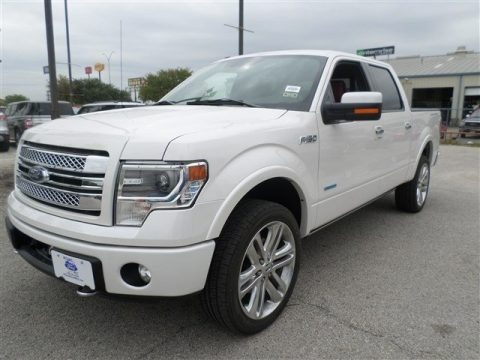 White Platinum Metallic Tri-Coat 2013 Ford F150 Limited SuperCrew 4x4