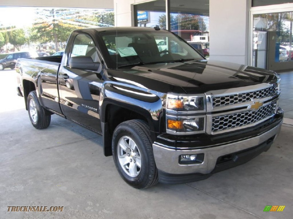 2014 chevrolet silverado 1500 lt regular cab 4x4 in black 171383 truck n 39 sale. Black Bedroom Furniture Sets. Home Design Ideas