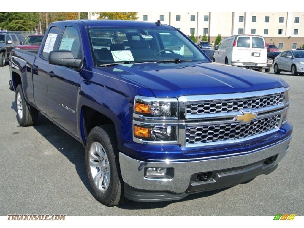 2014 chevrolet silverado 1500 lt double cab 4x4 in blue topaz metallic 162103 truck n 39 sale. Black Bedroom Furniture Sets. Home Design Ideas