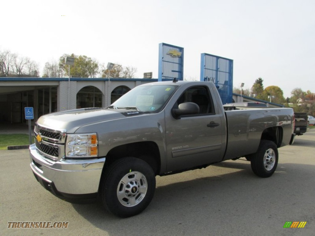 2014 chevrolet silverado 2500hd lt regular cab 4x4 in graystone metallic 165748 truck n 39 sale. Black Bedroom Furniture Sets. Home Design Ideas