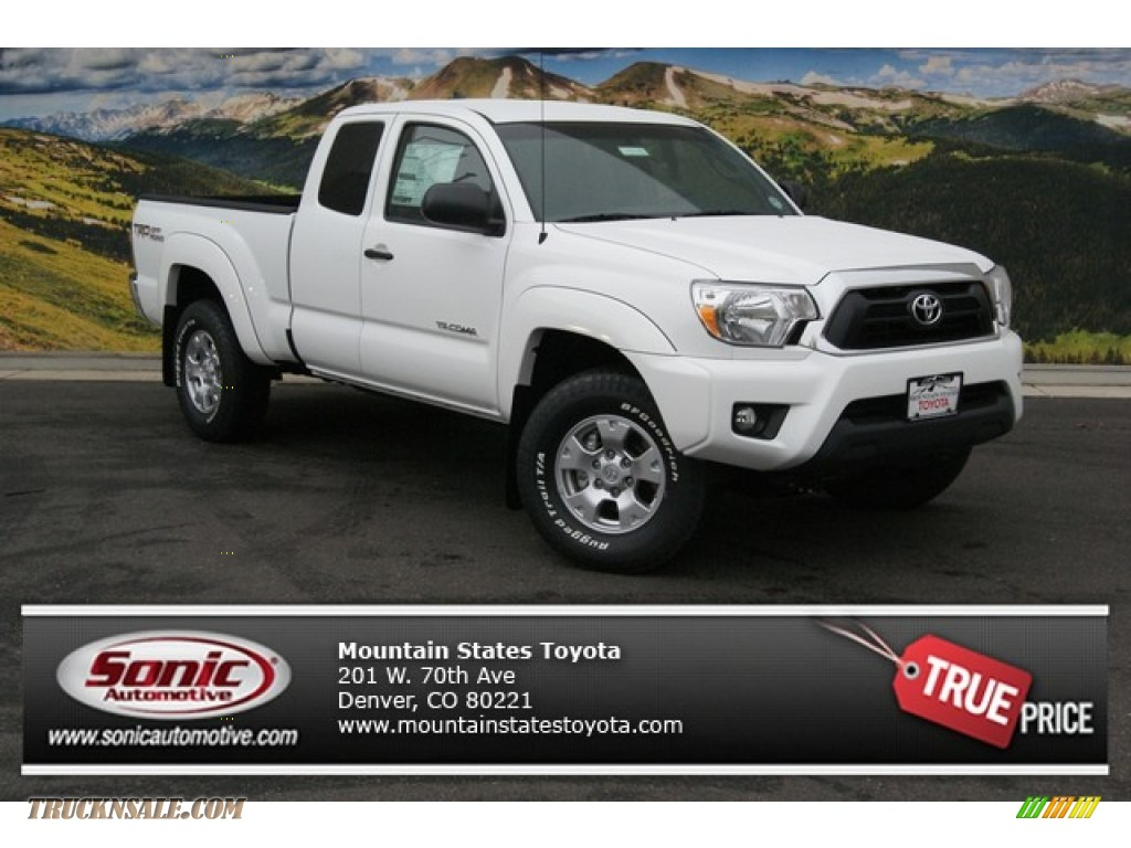 2014 toyota tacoma v6 trd access cab 4x4 in super white 086398 truck n 39 sale. Black Bedroom Furniture Sets. Home Design Ideas
