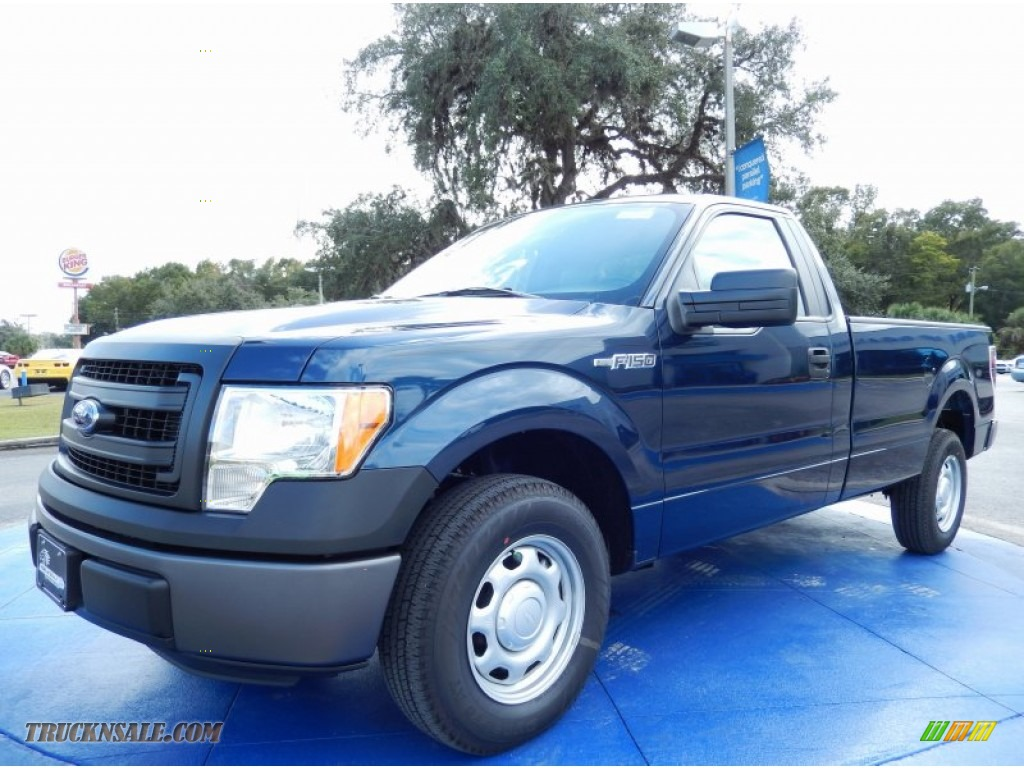 2013 ford f150 xl regular cab in blue jeans metallic g03681 truck n 39 sale. Black Bedroom Furniture Sets. Home Design Ideas