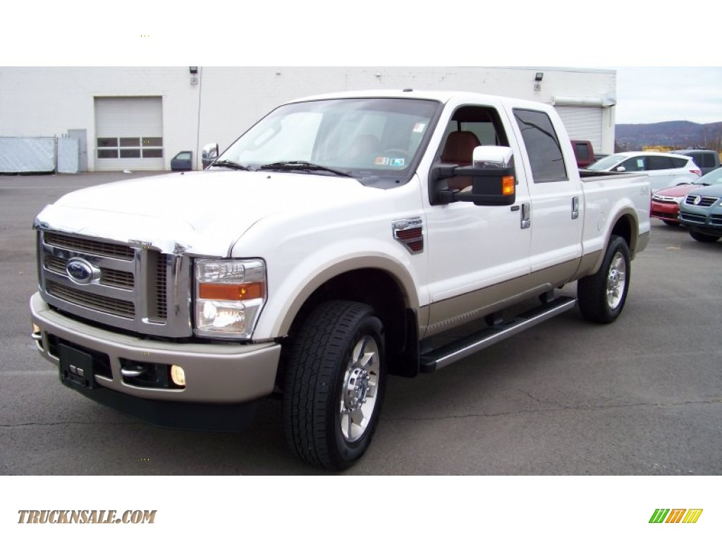 2010 ford f250 super duty king ranch crew cab 4x4 in white platinum tri coat a42461 truck n. Black Bedroom Furniture Sets. Home Design Ideas