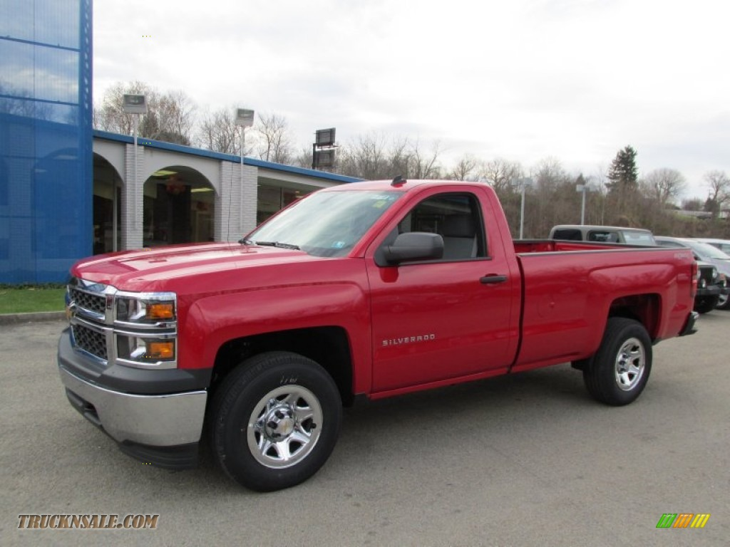2014 chevrolet silverado 1500 wt regular cab 4x4 in victory red 134446 truck n 39 sale. Black Bedroom Furniture Sets. Home Design Ideas