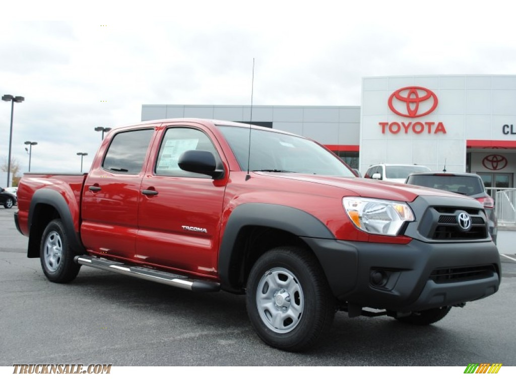 2014 toyota tacoma double cab in barcelona red metallic 037225 truck n 39 sale. Black Bedroom Furniture Sets. Home Design Ideas