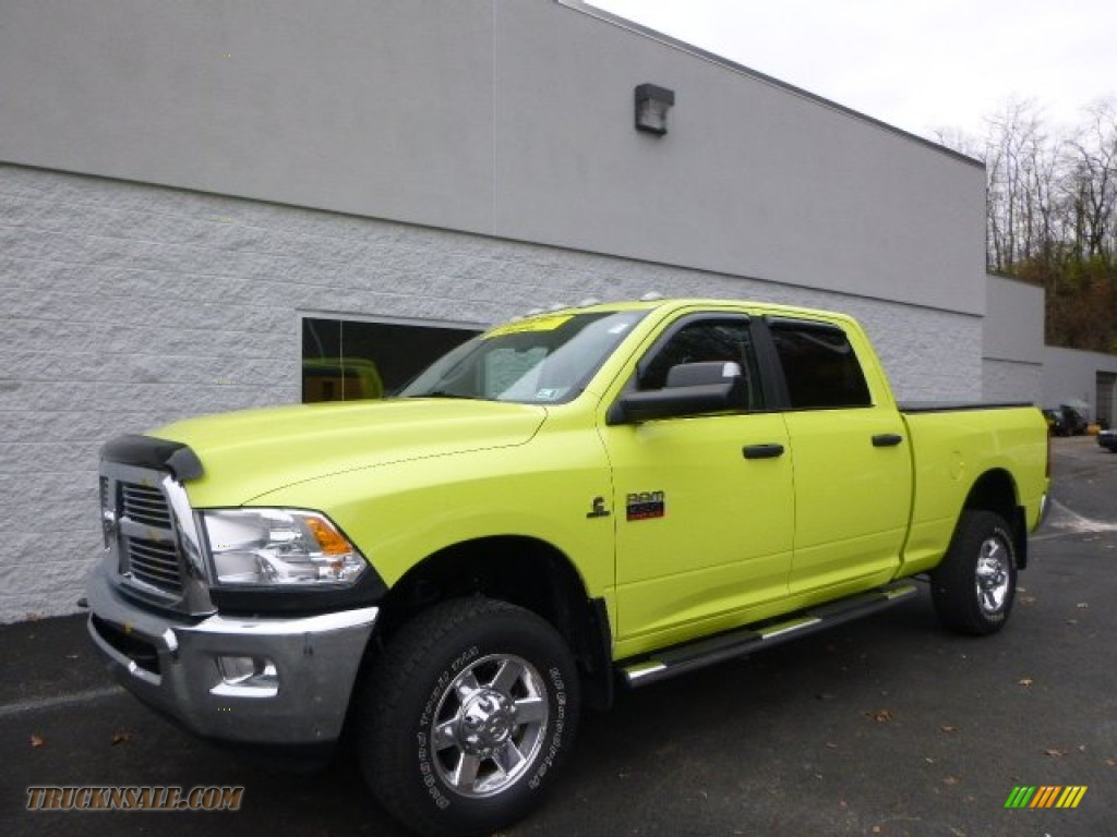 2011 dodge ram 2500 hd big horn crew cab 4x4 in national fire safety lime yellow 613151. Black Bedroom Furniture Sets. Home Design Ideas