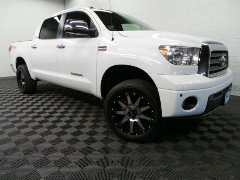 Super White 2007 Toyota Tundra Limited CrewMax 4x4