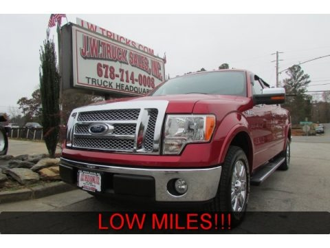 Royal Red Metallic 2010 Ford F150 Lariat SuperCrew
