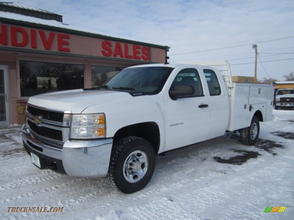 2009 chevrolet silverado 2500hd work truck extended cab 4x4 in summit white 102885 truck n 39 sale. Black Bedroom Furniture Sets. Home Design Ideas