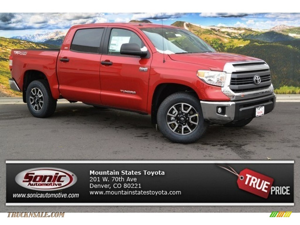 2014 Toyota Tundra Sr5 Trd Crewmax 4x4 In Barcelona Red