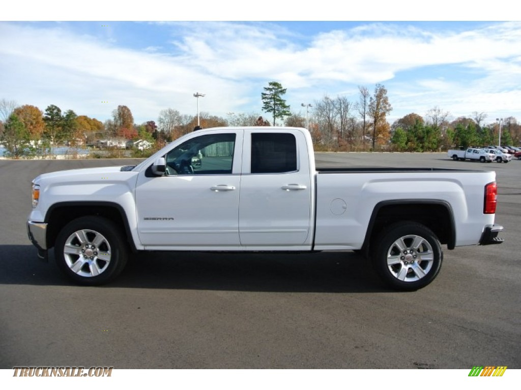 2014 gmc sierra 1500 sle double cab in summit white photo 3 134207 truck n 39 sale. Black Bedroom Furniture Sets. Home Design Ideas