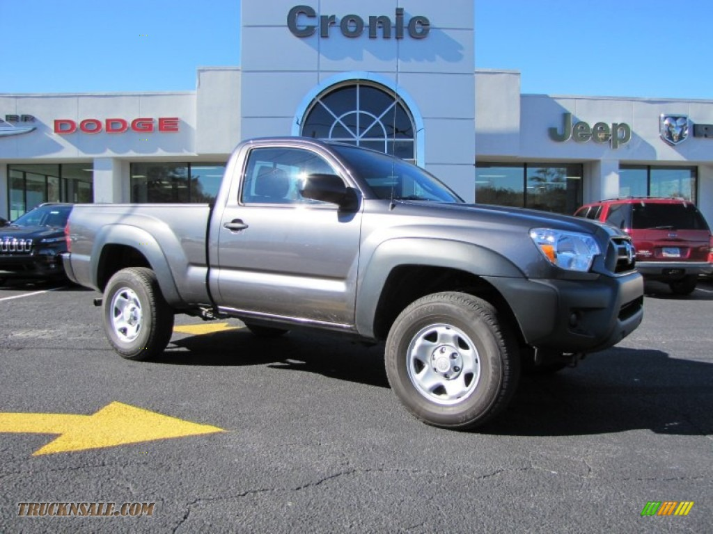 2013 toyota tacoma regular cab 4x4 in magnetic gray metallic 014066 truck n 39 sale. Black Bedroom Furniture Sets. Home Design Ideas
