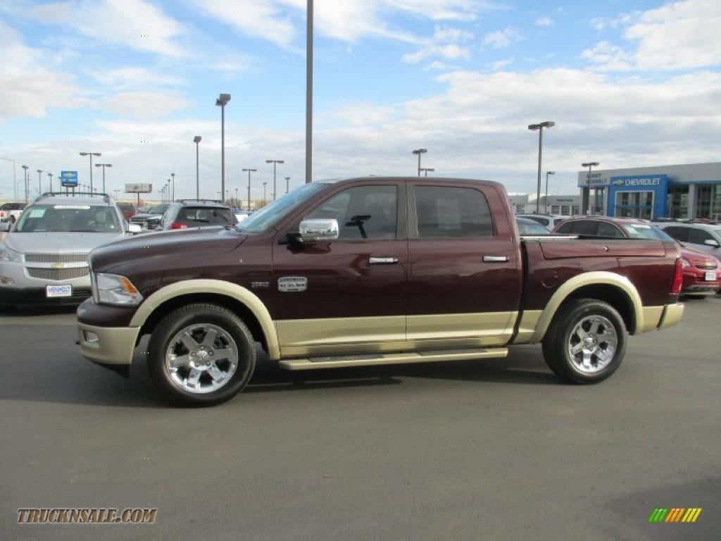 2012 Dodge Ram 1500 Laramie Longhorn Crew Cab 4x4 In Deep Molten Red Pearl Photo 3 275431
