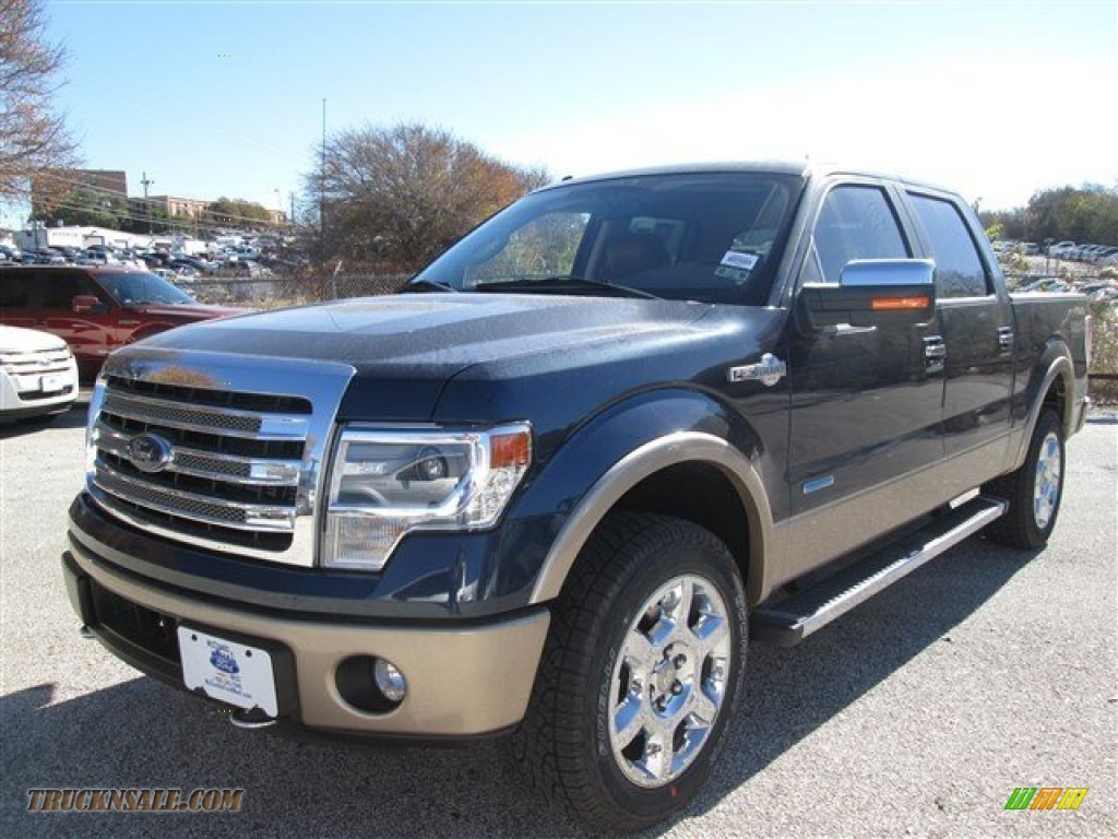 2014 ford f150 king ranch supercrew 4x4 in blue jeans d03954 truck n 39 sale. Black Bedroom Furniture Sets. Home Design Ideas