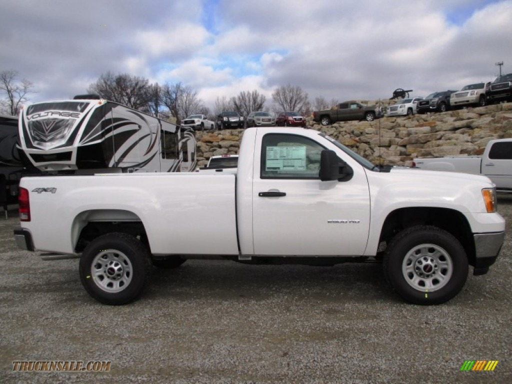 2014 gmc sierra 2500hd regular cab 4x4 in summit white 184136 truck n 39 sale. Black Bedroom Furniture Sets. Home Design Ideas