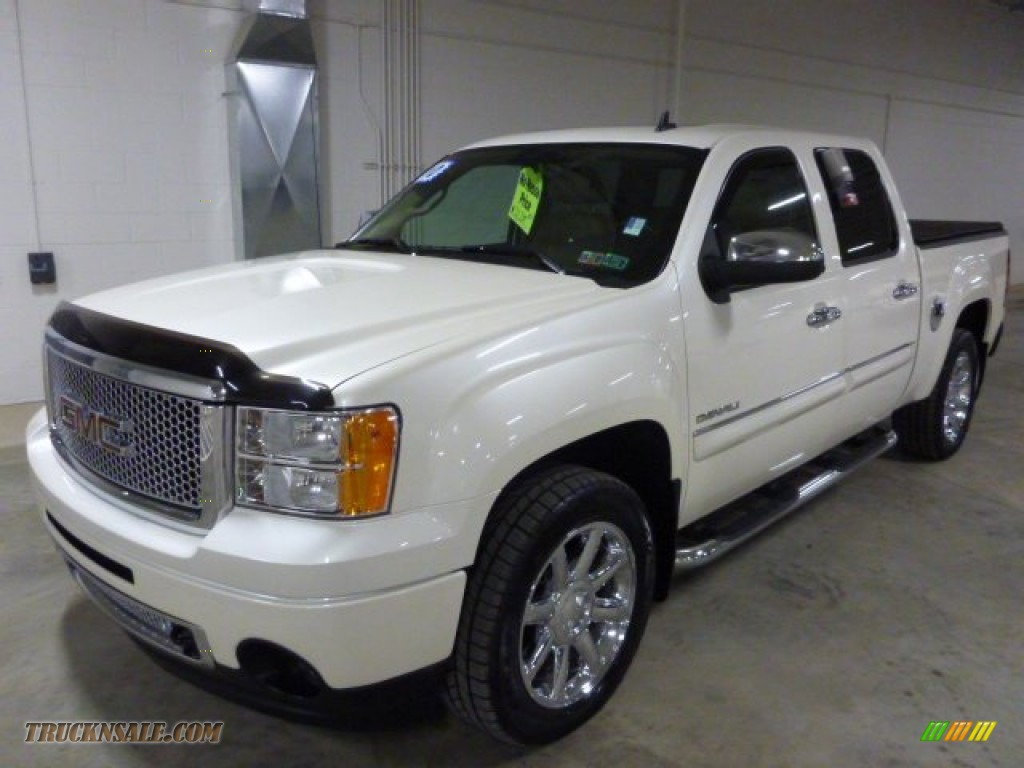 2010 gmc sierra 1500 denali crew cab awd in white diamond tricoat 288061 truck n 39 sale. Black Bedroom Furniture Sets. Home Design Ideas