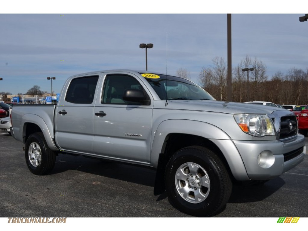 2008 toyota tacoma v6 sr5 prerunner double cab in silver streak mica 059104 truck n 39 sale. Black Bedroom Furniture Sets. Home Design Ideas