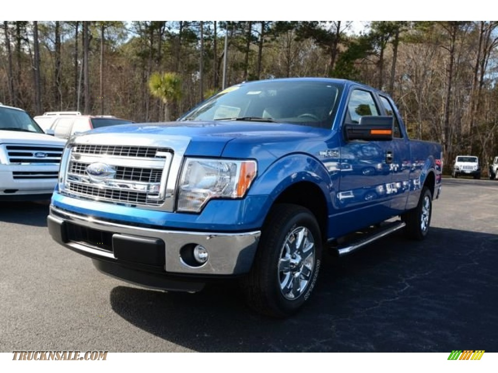 2014 ford f150 xlt supercab in blue flame a35310 truck n 39 sale. Black Bedroom Furniture Sets. Home Design Ideas