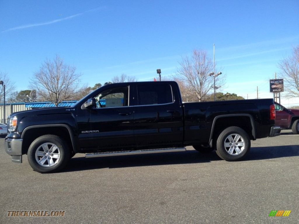 2014 gmc sierra 1500 sle crew cab 4x4 in onyx black photo 3 218363 truck n 39 sale. Black Bedroom Furniture Sets. Home Design Ideas