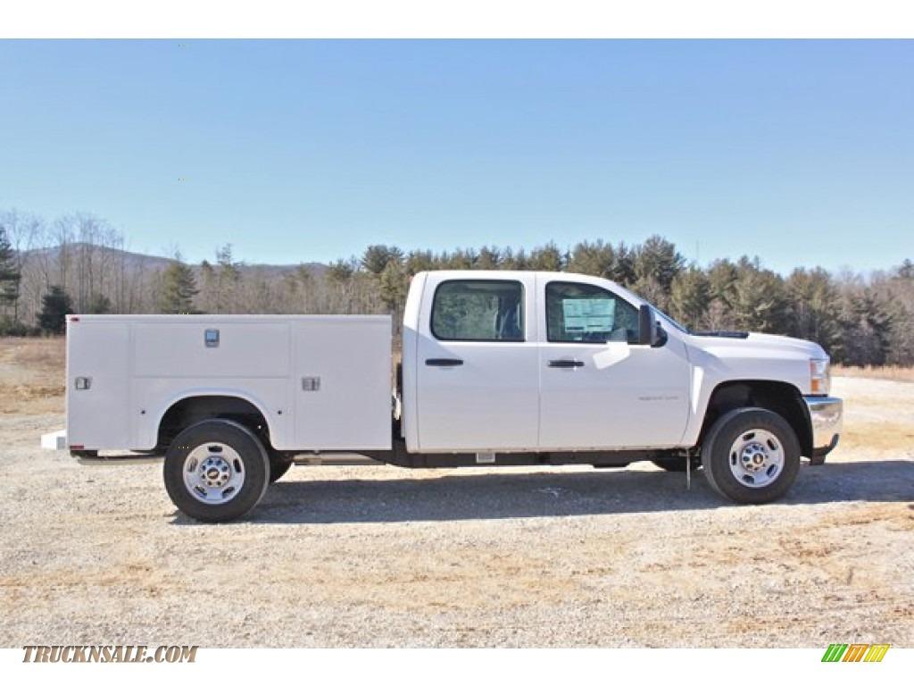 2014 chevrolet silverado 2500hd wt crew cab 4x4 utility truck in summit white 165766 truck n. Black Bedroom Furniture Sets. Home Design Ideas