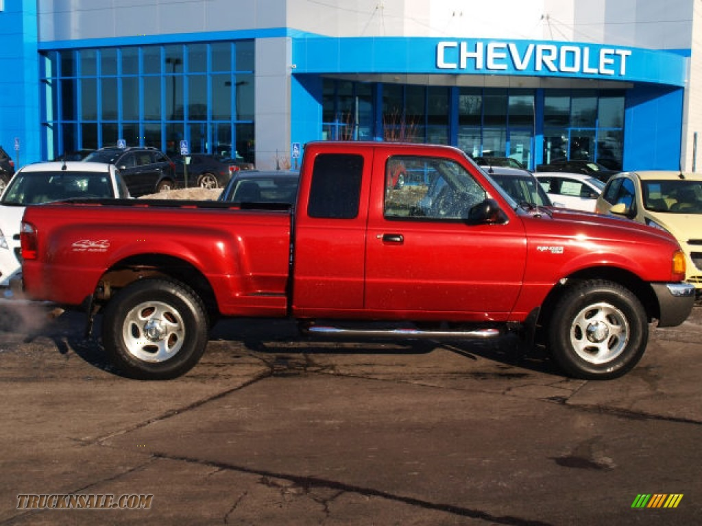 2001 ford ranger xlt supercab 4x4 in toreador red metallic a98439 truck n 39 sale. Black Bedroom Furniture Sets. Home Design Ideas