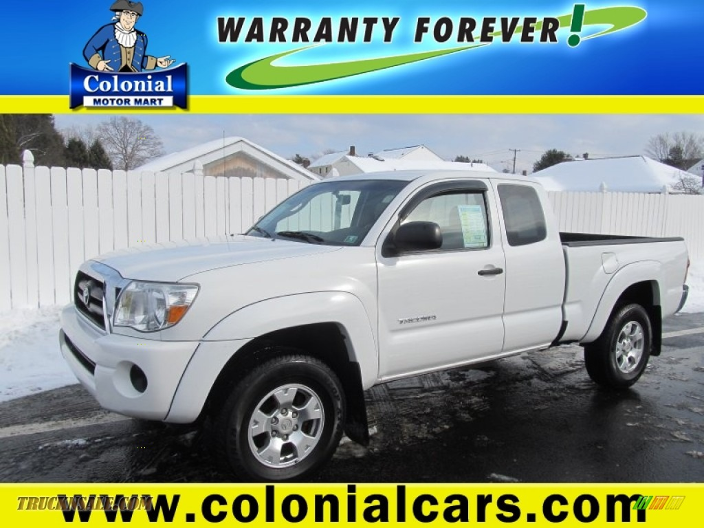 2007 toyota tacoma access cab 4x4 in super white 340682 for Colonial motors indiana pa