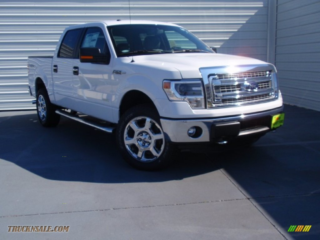 2014 ford f150 xlt supercrew 4x4 in oxford white d44643 truck n 39 sale. Black Bedroom Furniture Sets. Home Design Ideas