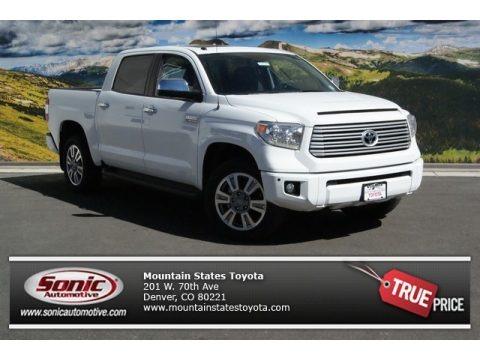 Super White 2014 Toyota Tundra Platinum Crewmax 4x4