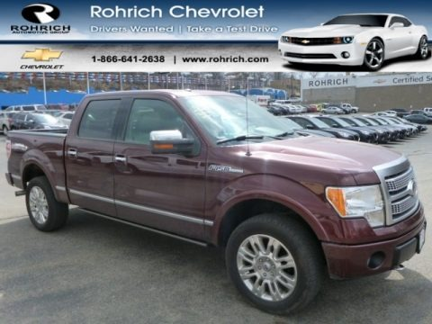 Royal Red Metallic 2009 Ford F150 Platinum SuperCrew 4x4