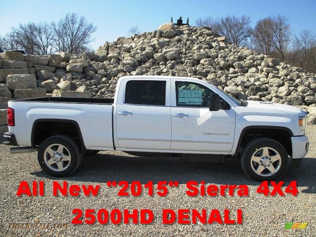 2015 sierra 2500hd denali crew cab 4x4 summit white cocoa dune photo