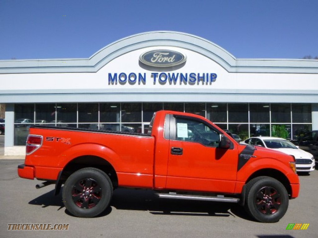 2012 ford f150 stx regular cab 4x4 in race red b70447 truck n 39 sale. Black Bedroom Furniture Sets. Home Design Ideas
