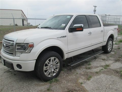 White Platinum 2014 Ford F150 Platinum SuperCrew 4x4