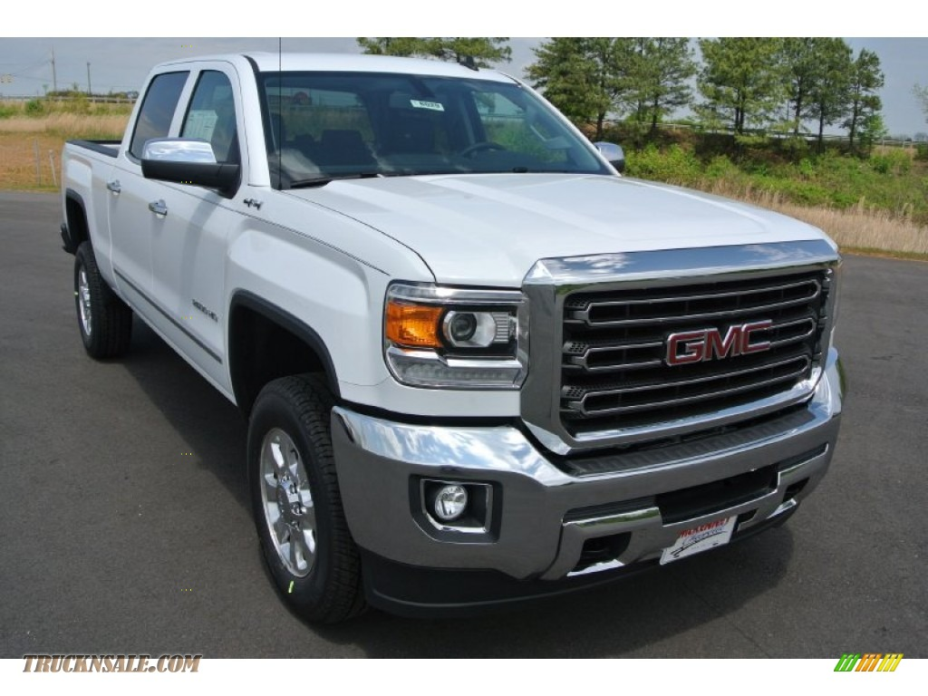 2015 gmc sierra 2500hd slt crew cab 4x4 in summit white 130833 truck n 39 sale. Black Bedroom Furniture Sets. Home Design Ideas