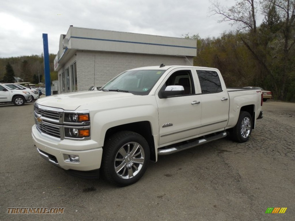 2014 chevrolet silverado 1500 high country crew cab 4x4 in white diamond tricoat 416642. Black Bedroom Furniture Sets. Home Design Ideas