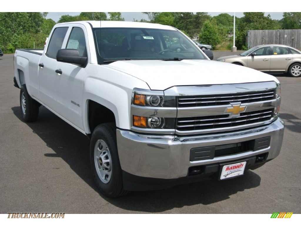 2015 chevrolet silverado 2500hd wt crew cab 4x4 in summit white 125208 truck n 39 sale. Black Bedroom Furniture Sets. Home Design Ideas