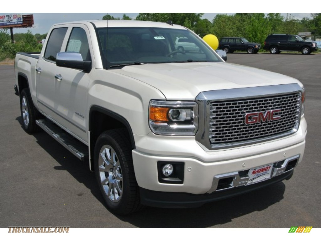 2014 gmc sierra 1500 denali crew cab 4x4 in white diamond tricoat 427505 truck n 39 sale. Black Bedroom Furniture Sets. Home Design Ideas
