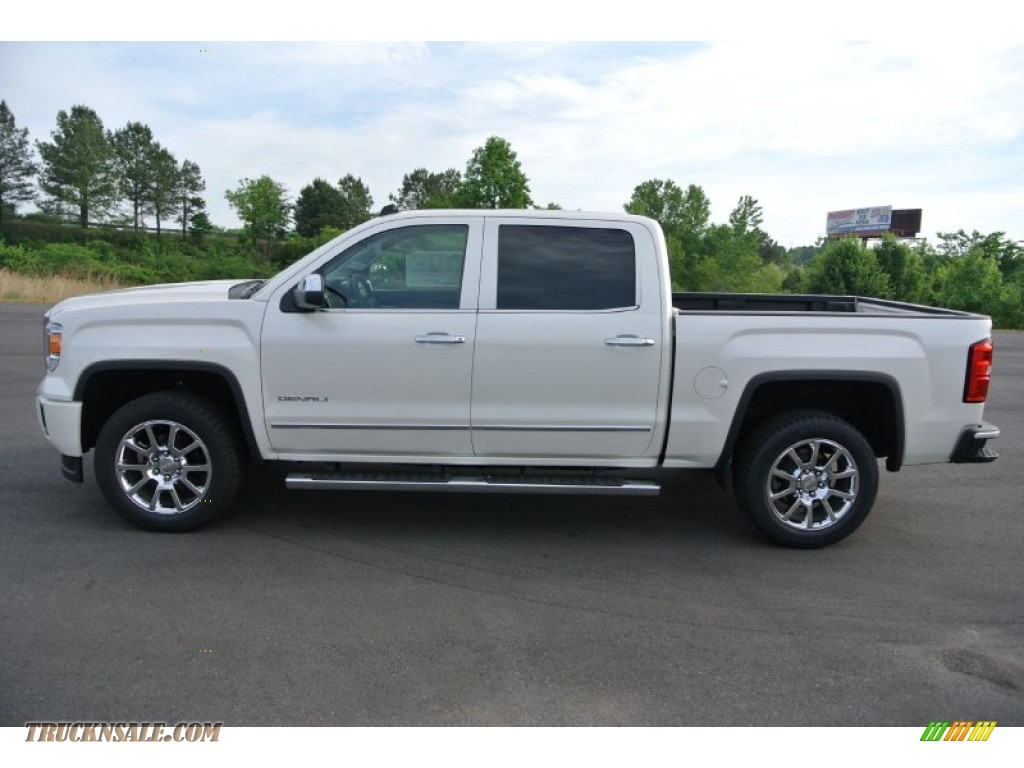 2014 gmc sierra 1500 denali crew cab 4x4 in white diamond tricoat photo 3 446803 truck n 39 sale. Black Bedroom Furniture Sets. Home Design Ideas