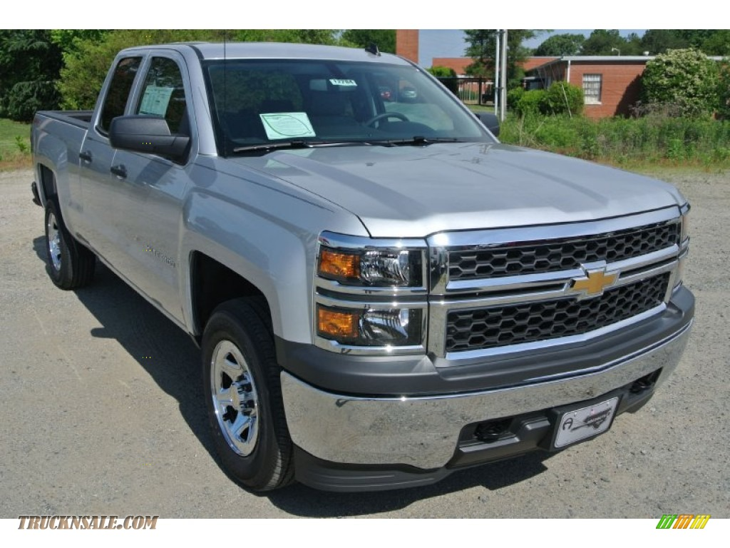 2014 chevrolet silverado 1500 wt double cab 4x4 in silver ice metallic 319988 truck n 39 sale. Black Bedroom Furniture Sets. Home Design Ideas