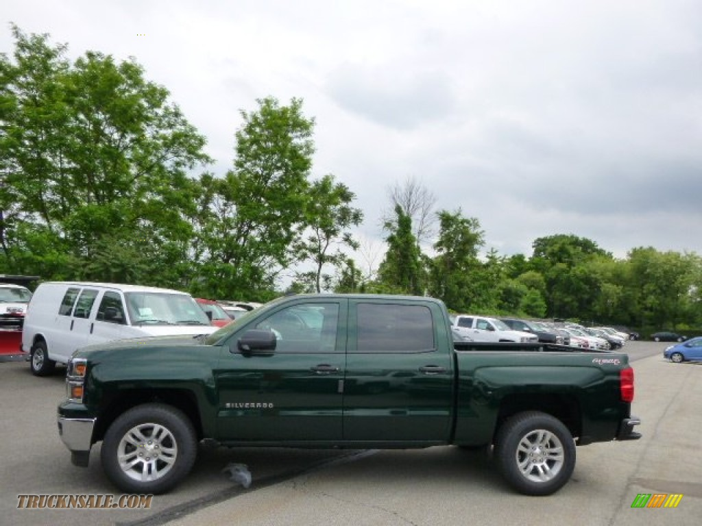 2014 Chevrolet Silverado 1500 LT Crew Cab 4x4 in Rainforest Green Metallic - 466037 | Truck N' Sale