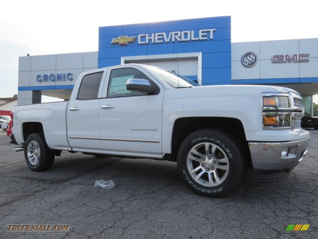 2014 chevrolet silverado 1500 ltz double cab in summit white 299964 truck n 39 sale. Black Bedroom Furniture Sets. Home Design Ideas