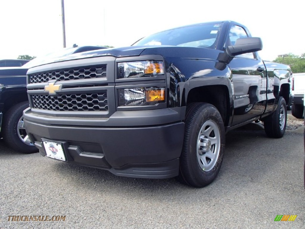 2014 chevrolet silverado 1500 wt regular cab in black 338535 truck n 39 sale. Black Bedroom Furniture Sets. Home Design Ideas