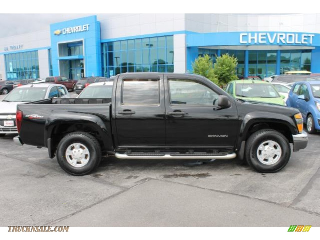 2005 gmc canyon sle crew cab 4x4 in onyx black 197563 truck n 39 sale. Black Bedroom Furniture Sets. Home Design Ideas