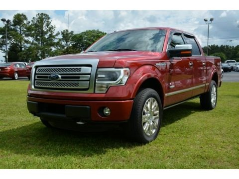Ruby Red Metallic 2013 Ford F150 Platinum SuperCrew 4x4